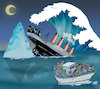 Cartoon: Sinking of societies (small) by Damien Glez tagged sinking,of,migrant,societies,inequalities