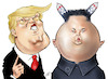 Cartoon: Trump and Jong-un (small) by Damien Glez tagged kim,jong,un,north,korea,trump,donald,america,united,states