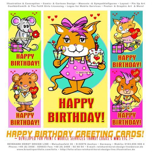 Niedliche tiere animals cat happy birthday geburtstag katze maus