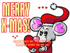 Cartoon: FeliX Wishes A Merry X-Mas! (small) by FeliXfromAC tagged felix alias reinhard horst design line merry xmas christmas frohes fest frohe weihnachten illustration illustrator maus aachen nrw germany liebe love grüsse greetings tier animal weihnachtskarte