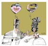 Cartoon: Complementation (small) by AGRA tagged love,couple,girlfriend,books