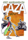 Cartoon: STOP IT NOW!! (small) by AGRA tagged gaza,palestine,middle,west
