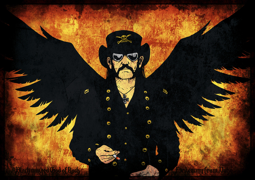 Cartoon: God of Rock (medium) by volkertoons tagged lemmy,kilmister,motorhead,motörhead,rock,music,portrait,volkertoons,lemmy,kilmister,motorhead,motörhead,rock,music,portrait,volkertoons