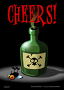 Cartoon: Cheers! (small) by volkertoons tagged volkertoons cartoon comic karte grußkarte postkarte gereeting card fliege flie gift poison prost cheers lustig humor spaß fun funny