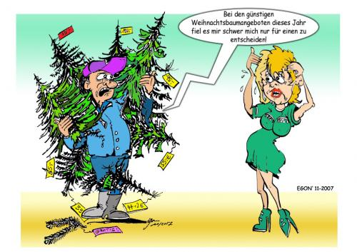 Cartoon: Christmas (medium) by cartoonist_egon tagged humor,spass,fun,