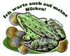 Cartoon: Auf Mücken warten... (small) by cartoonist_egon tagged frog,frosch,kröte,money,moneten,pinke