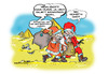 Cartoon: Gestreut (small) by cartoonist_egon tagged wüste,sahara,weihnachten,streuung