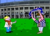 Cartoon: Union Berlin - Hertha BSC (small) by Tricomix tagged union,berlin,hertha,bsc,fussball,soccer,olympiastadion,hauptstadt,derby,rasen,mangold
