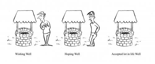 Cartoon: Well (medium) by pinkhalf tagged cartoon,man,philosophy