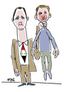 Cartoon: Assad and Aschraf (small) by Hayati tagged assad and ashraf syrien suriye staatsterror folterung todesopfer grenzen protest hayati boyacioglu berlin