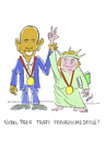 Cartoon: Peace and Freedom (small) by Hayati tagged nobelpreis,obama,freiheitsmedaille,merkel,amerika,deutshland,hayati,boyacioglu