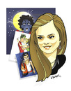 Cartoon: -NICOLETA IONESCU- PORTRAIT (small) by donquichotte tagged nicol