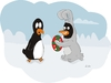 Cartoon: pinguins pascoa (small) by claude292 tagged eggs,puinguins