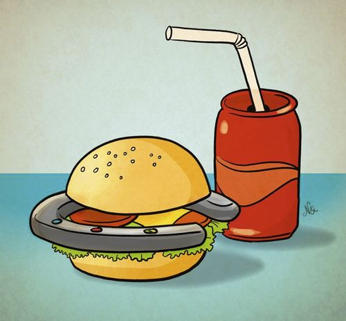 Cartoon: The Horse-burger (medium) by Nicoleta Ionescu tagged horse,meat,hamburger,food