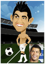 Cartoon: Cristiano Ronaldo (small) by Nicoleta Ionescu tagged cristiano,ronaldo,football,sport,portuguese,footballer,manchester,united,real,madrid