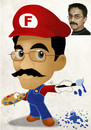 Cartoon: Ferhat Demirbas as Super Mario (small) by Nicoleta Ionescu tagged ferhat,demirbas,as,super,mario