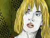 Cartoon: Uma (small) by Nicoleta Ionescu tagged portret,uma,thurman,kill,bill,tarantino,blond,bad,girl,woman