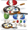 Cartoon: Wrong omlet recipe (small) by Nicoleta Ionescu tagged egg,omlet,easter,concept,stock,image