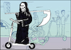 Cartoon: Dont drive carefully... (small) by matan_kohn tagged illustration,mobilebike,angelofdeath,electric,electricbike,scooter,caricture,danger