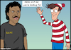 Cartoon: Is it me youre looking for (small) by matan_kohn tagged caricature,clip,comedy,comic,drawing,fanart,funny,hat,illustration,lionelrichie,love,mark,movie,mtv,music,musicvideo,scary,singer,songs,toon,wally,wave,whereiswally,hello