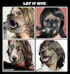 Cartoon: Let it bite (small) by matan_kohn tagged beatles,thebeatles,johnlennon,paulmccartney,ringostarr,georgeharrison,dog,dogs,funny,london,music,musician,illustration,caricature,comic,animals,artwork,digitalart,band,mendog,letitbe,parody,drawing,cover