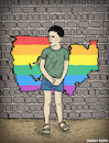 Cartoon: Life parade new comic book (small) by matan_kohn tagged kid,flag,wall,gay,gayboy,gaylife,pride,paradelife,homo,illustration,digitalart,art,love,drawing,sad,sketch