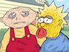 Cartoon: Stewie and Maggie old babies (small) by matan_kohn tagged familyguy,tvshow,thesimpsons,funny,illustration,drawing,art,babies,sketch,old,love,hot,lol,joking,lamo,griffin,humor