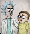 Cartoon: The real Rick and Morty (small) by matan_kohn tagged the,real,rick,and,morty