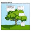 Cartoon: Generationskonflikt (small) by Thomas Martin tagged alter,kindheit,kinder,jugend,familie,respekt,baum,sommer
