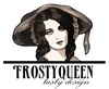Cartoon: FrostyQueen logo (small) by frostyhut tagged logo design woman women face hat queen drawing pretty beautiful