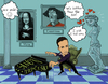 Cartoon: Simon Trpceski (small) by frostyhut tagged simon trpceski macedonia classical piano pianist music venus monalisa copernicus