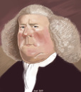 Cartoon: William Boyce (small) by frostyhut tagged composer boyce english baroque wig