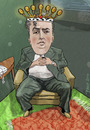 Cartoon: Yefim Bronfman (small) by frostyhut tagged bronfman,pianist,classical,music,russian,heart,crown,king,royal