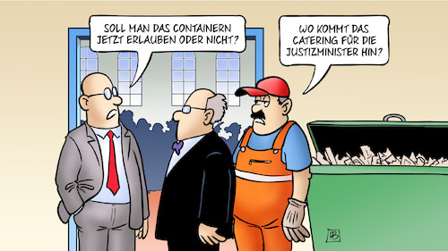 Cartoon: Containern (medium) by Harm Bengen tagged containern,lebensmittel,müll,catering,justizminister,tafeln,armut,harm,bengen,cartoon,karikatur,containern,lebensmittel,müll,catering,justizminister,tafeln,armut,harm,bengen,cartoon,karikatur