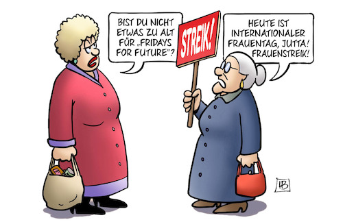 Cartoon: Int. Frauentag 2019 (medium) by Harm Bengen tagged frauenstreik,internationaler,frauentag,susemil,alt,fridays,for,future,schulstreik,klimaschutz,harm,bengen,cartoon,karikatur,frauenstreik,internationaler,frauentag,susemil,alt,fridays,for,future,schulstreik,klimaschutz,harm,bengen,cartoon,karikatur