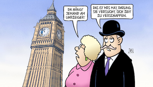 Cartoon: May braucht Zeit (medium) by Harm Bengen tagged may,zeit,uhrzeiger,big,ben,uhr,gb,uk,brexit,harm,bengen,cartoon,karikatur,may,zeit,uhrzeiger,big,ben,uhr,gb,uk,brexit,harm,bengen,cartoon,karikatur