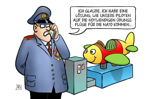 Cartoon: Piloten-Training (medium) by Harm Bengen tagged piloten,training,bundeswehr,luftwaffe,übungsfluege,nato,kinderflugzeug,general,handy,harm,bengen,cartoon,karikatur,piloten,training,bundeswehr,luftwaffe,übungsfluege,nato,kinderflugzeug,general,handy,harm,bengen,cartoon,karikatur