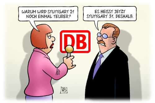 Cartoon: Stuttgart 31 (medium) by Harm Bengen tagged stuttgart,21,31,teurer,kosten,bahnprojekt,db,eröffungstermin,interview,harm,bengen,cartoon,karikatur,stuttgart,21,31,teurer,kosten,bahnprojekt,db,eröffungstermin,interview,harm,bengen,cartoon,karikatur
