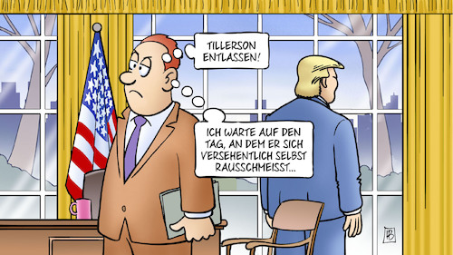 Cartoon: Tillerson-Entlassung (medium) by Harm Bengen tagged tillerson,entlassung,trump,oval,office,aussenminister,harm,bengen,cartoon,karikatur,tillerson,entlassung,trump,oval,office,aussenminister,harm,bengen,cartoon,karikatur