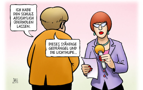 Cartoon: Union überholt (medium) by Harm Bengen tagged union,überholen,auto,schulz,spd,merkel,bundeskanzlerin,umfragen,bundestagswahl,cdu,gedrängel,lichthupe,interview,reporterin,harm,bengen,cartoon,karikatur,union,überholen,auto,schulz,spd,merkel,bundeskanzlerin,umfragen,bundestagswahl,cdu,gedrängel,lichthupe,interview,reporterin,harm,bengen,cartoon,karikatur