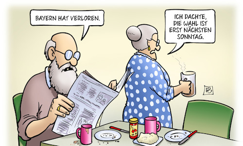 Cartoon: Verloren (medium) by Harm Bengen tagged fc,bayern,verloren,fussball,bundesliga,landtagswahl,harm,bengen,cartoon,karikatur,fc,bayern,verloren,fussball,bundesliga,landtagswahl,harm,bengen,cartoon,karikatur