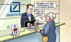 Cartoon: Dt. Bank-Verlust (small) by Harm Bengen tagged rekordverlust,milliarden,deutsche,bank,geld,aktien,leihen,darlehen,kredit,susemil,harm,bengen,cartoon,karikatur