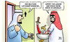Cartoon: Gabriel in Arabien (small) by Harm Bengen tagged deutscher,wirtschaftsminister,gabriel,waschen,haende,unschuld,blut,saebel,saudi,arabien,abu,dhabi,katar,menschenrechte,waffenexporte,harm,bengen,cartoon,karikatur