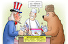 Cartoon: New-Start-Vertrag (small) by Harm Bengen tagged neuverhandlung,new,start,vertrag,abrüstung,raketen,kalter,krieg,eisverkäufer,eis,wien,bär,uncle,sam,usa,russland,harm,bengen,cartoon,karikatur