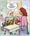 Cartoon: Schul-Casting (small) by Harm Bengen tagged schule,casting,einschulung