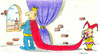 Cartoon: King IV (small) by cizofreni tagged king,kral,soytari,harlequin,jester
