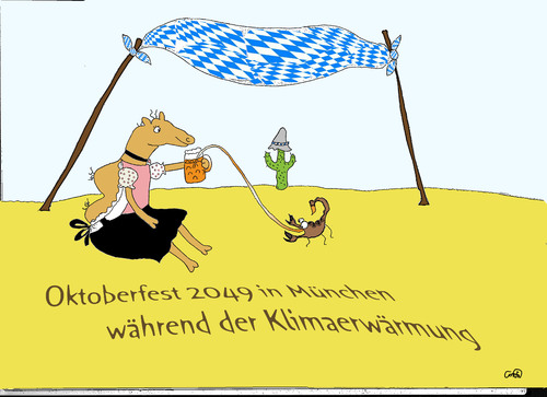 Cartoon: Wüstenfest (medium) by constanze tagged oktoberfest