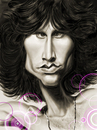 Cartoon: Jim Morrison (small) by markdraws tagged jim,morrison,the,doors,rock,and,roll,psychedelic,humor,caricature,music,illustration,portrait,photoshop,digital,painting,sketchbook,pro