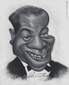 Cartoon: Louis Armstrong (small) by jonesmac2006 tagged louis,armstrong,caricature