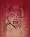 Cartoon: marilyn monroe caricature (small) by jonesmac2006 tagged marilyn,monroe,caricature